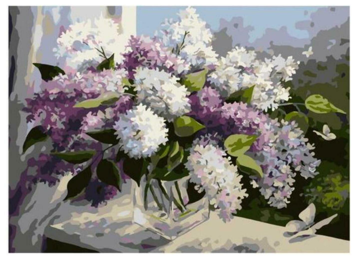 Картина по номерам Paintboy Original PKC 79005 Полет в сиреневую весну (Воробьёва Ольга) 30*40