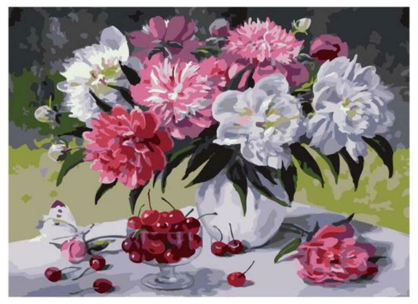 Картина по номерам Paintboy Original PKC 79006 Прилетела бабочка (Воробьёва Ольга) 30*40