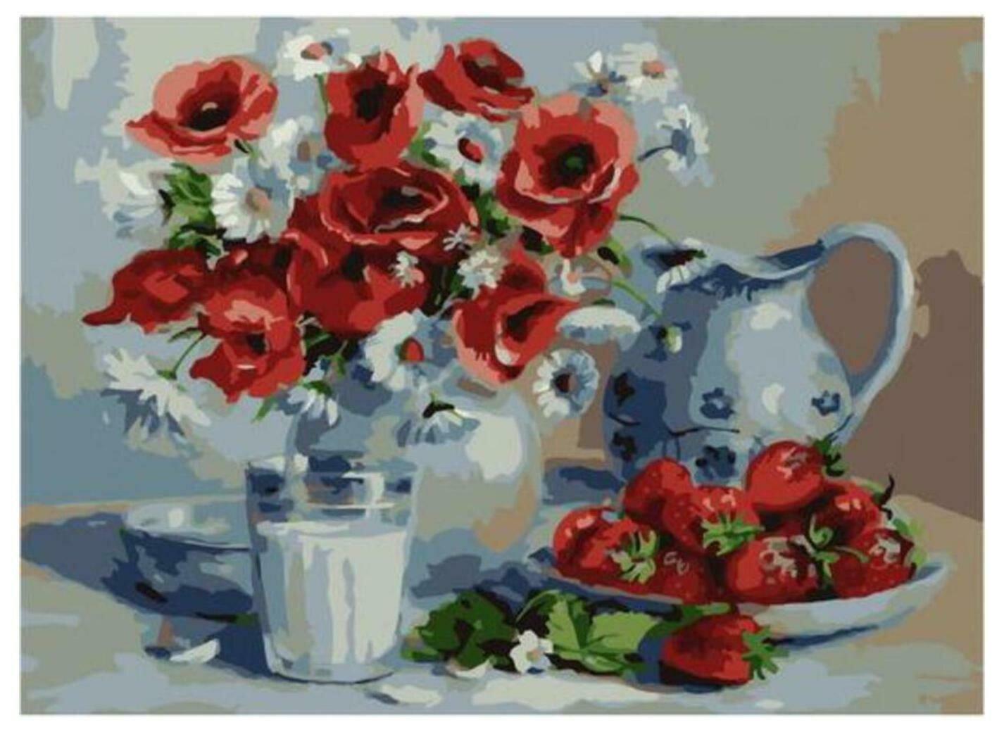 Картина по номерам Paintboy Original PKC 79025 Летний десерт (Воробьева Ольга) 30*40