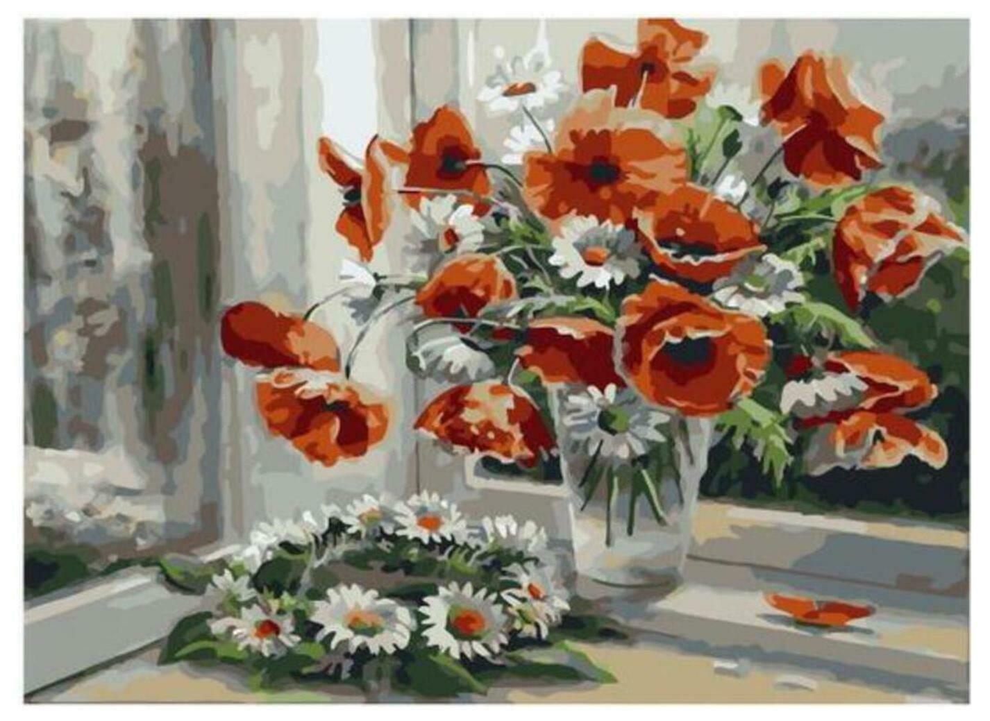 Картина по номерам Paintboy Original PKC 79058 Цветочная рапсодия (Воробьёва Ольга) 30*40