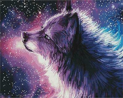 Алмазная мозаика Paintboy GF 4545 Небесный волк 40x50см