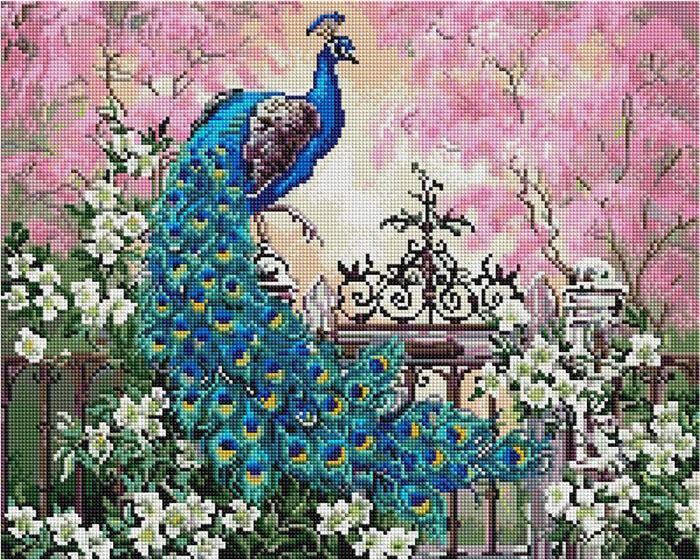 Алмазная мозаика Paintboy GF 4285 Садовый павлин 40x50см