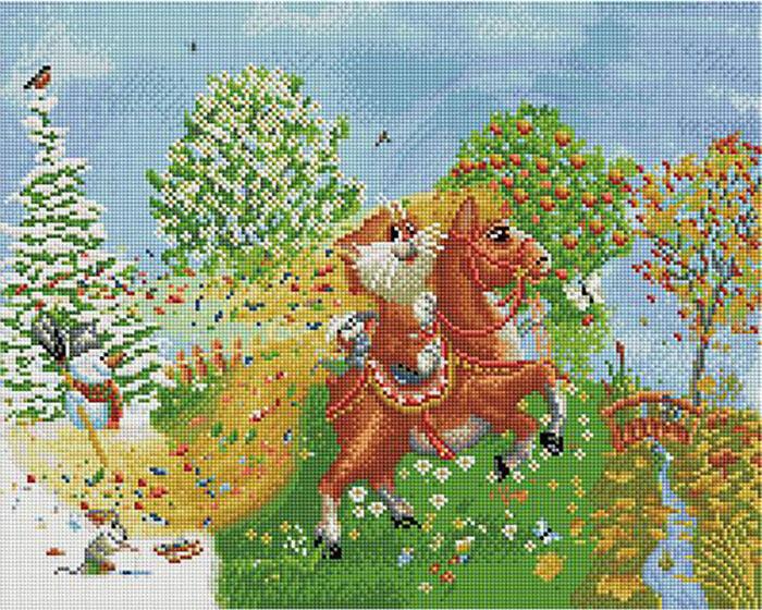 Алмазная мозаика Paintboy APK 76001 На коне (Долотов Алексей) 40x50см