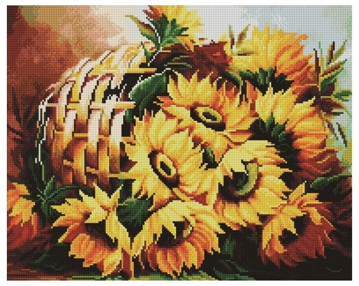 Алмазная мозаика Paintboy GF 1417 Корзина подсолнухов 40x50см