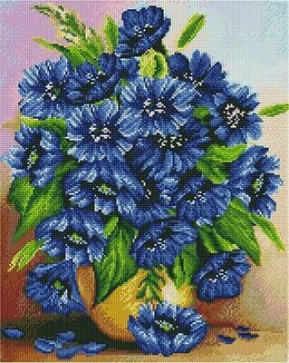 Алмазная мозаика Paintboy GF 4370 Потрясающие хризантемы 40x50см