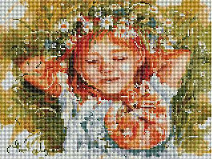Алмазная мозаика Paintboy ACPK 59009 Рыжая влюблённая (Логинова Аннет) 30*40