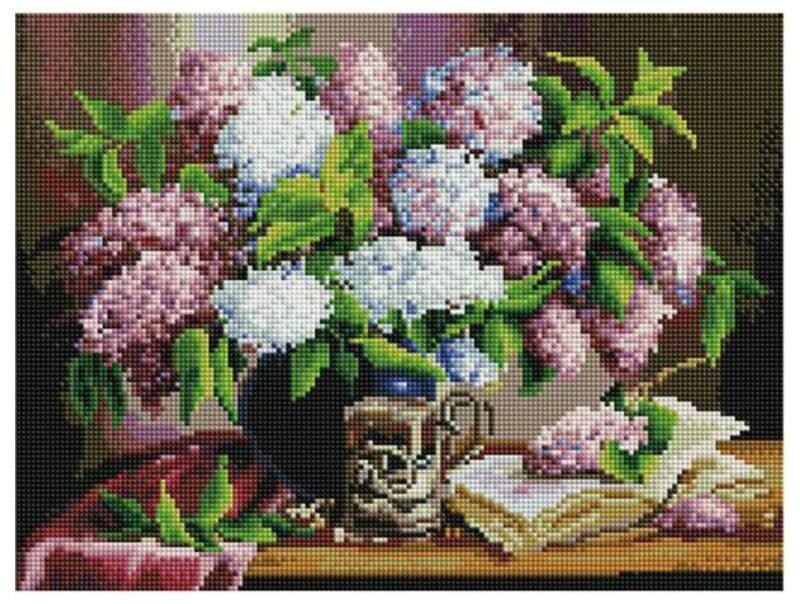 Алмазная мозаика Paintboy ACPK 79003 Остывший чай с сиреневым ароматом (Воробьёва) 30*40