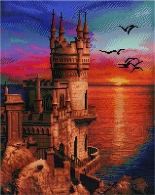 Алмазная мозаика Paintboy GF 4247 Дворец у моря 40x50см