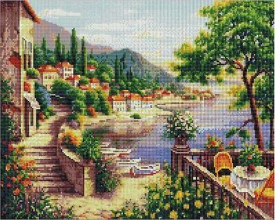Алмазная мозаика Paintboy GF 4477 Восточные сады 40x50см