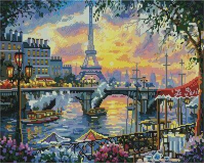 Алмазная мозаика Paintboy GF 4473 Эйфелева башня на закате 40x50см