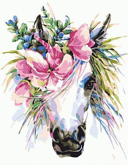 Картина по номерам PKC 76005 Прекрасная лошадь (Фаенкова Елена) 30*40