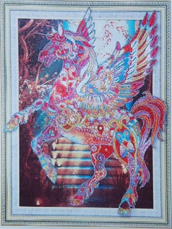 Алмазная мозаика HZ308, 3D эффект 40х50см