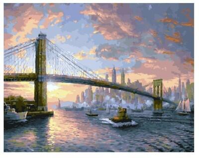 Картина по номерам Paintboy GX25269 Нью-Йорк (Кинкейд) 40*50