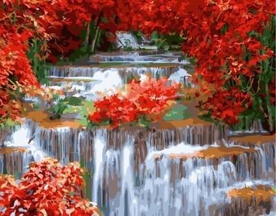 Картина по номерам GX 25802 Красный водопад 40*50