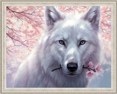 Алмазная мозаика Paintboy WB 2343 Нежный зверь 40x50см