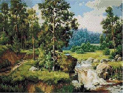 Алмазная мозаика Paintboy ACPK 59013 Сосны (Сатаров Михаил) 30х40см