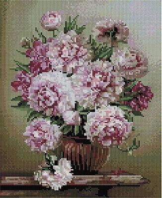 Алмазная мозаика Paintboy ACPK 59016 Букет на мраморном столике (Бузин Игорь) 30х40см