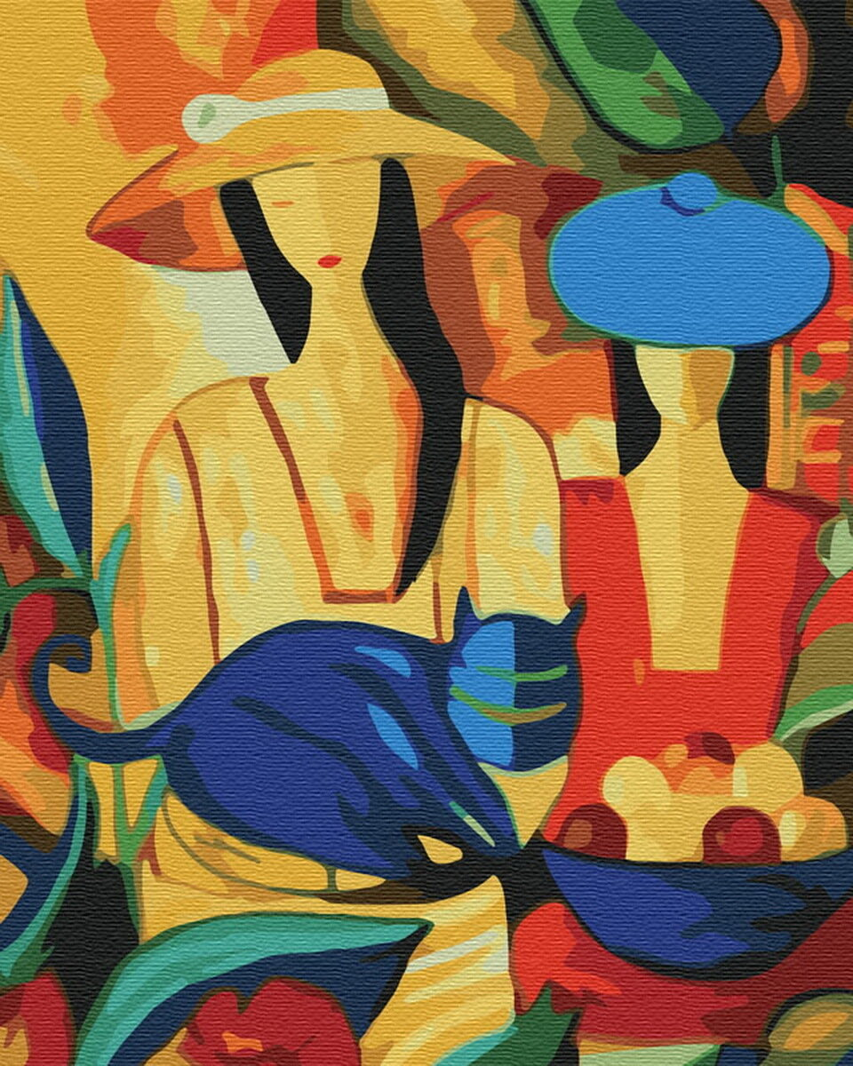 Картина по номерам Paintboy GX7635, Делаем покупки 40х50см