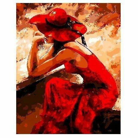 Картина по номерам Paintboy GX8929, Страстная девушка 40х50см