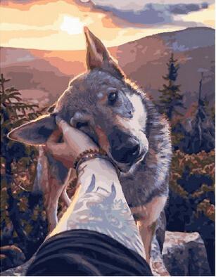 Картина по номерам Paintboy GX 28953 Ласковый зверь 40x50см
