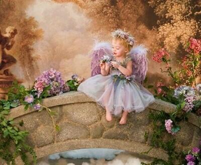 Картина по номерам 40x50см - Ангелок на мостике