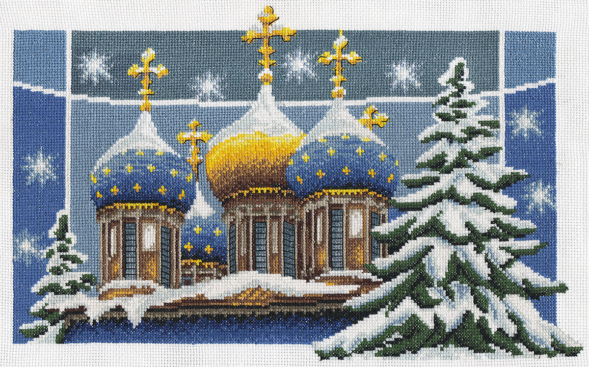 """Набор для вышивания """"PANNA"""" RK-0238 """"Рождественские купола"""" 36x22,5 см"""