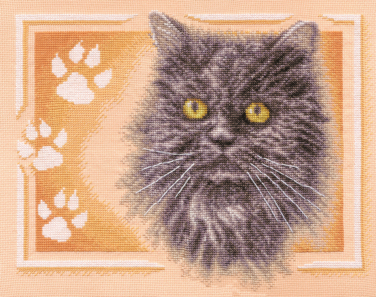 """Набор для вышивания """"PANNA"""" J-1171 """"Персидский кот"""" 32x26 см"""