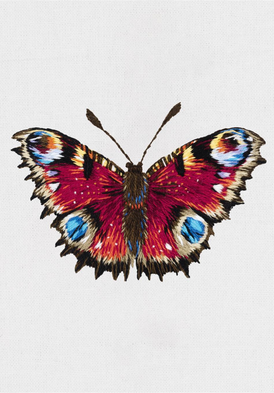 """Набор для вышивания """"PANNA"""" """"Живая картина"""" JK-2198 """"Бабочка Павлиний глаз"""" 7.5x5 см"""