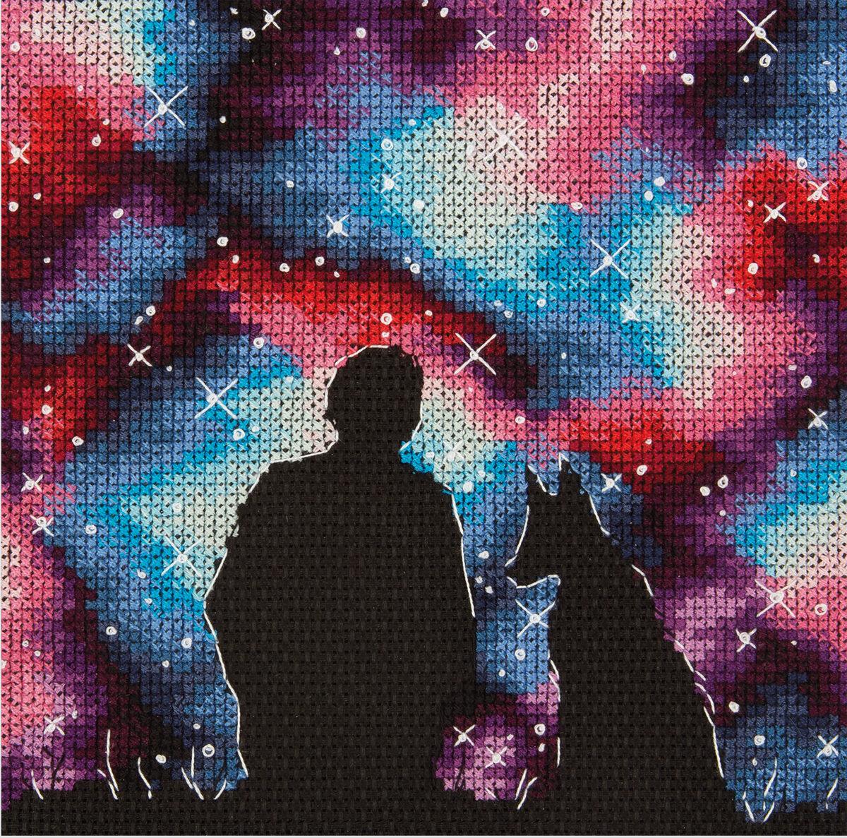 """Набор для вышивания """"PANNA"""" KS-7250 """"Лучшие друзья во Вселенной"""" 14.5x14.5 см"""