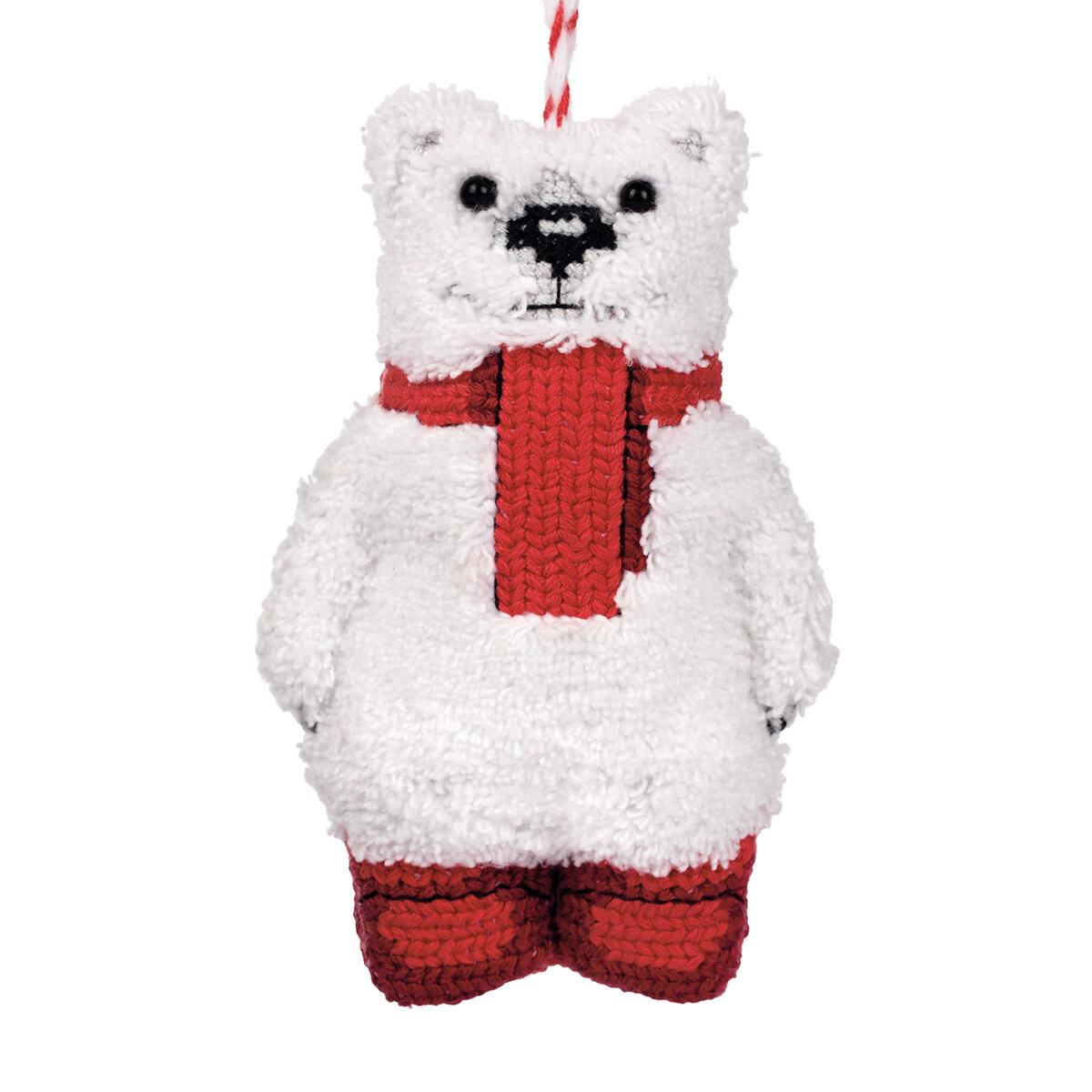 """""""Klart"""" набор для вышивания 8-500 """"Белый мишка"""" 6.5x10 см"""