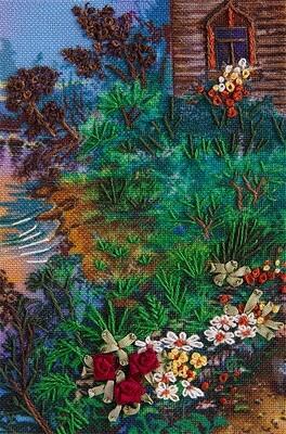 """Набор для вышивания """"PANNA"""" """"Живая картина"""" JK-2064 Фрагмент """"Тропинка к дому"""" 6x9 см"""