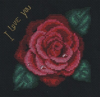 """Набор для вышивания """"PANNA"""" C-0279 """"Роза"""" 12,5x12,5 см"""