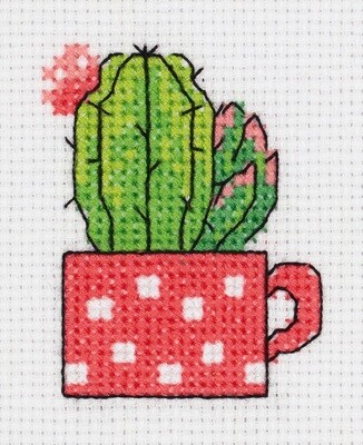 """""""Klart"""" набор для вышивания 8-457 """"Кактус в чашке"""" 7.5x8.5 см"""