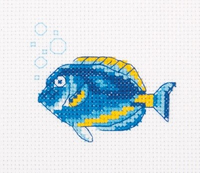 """Klart"" набор для вышивания 8-470 ""Рыба-хирург"" 10x8.5 см"