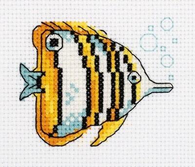"""""""Klart"""" набор для вышивания 8-459 """"Рыба-бабочка"""" 10x8.5 см"""