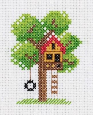 """""""Klart"""" набор для вышивания 8-456 """"Домик на дереве"""" 7.5x9.5 см"""