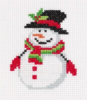 """""""Klart"""" набор для вышивания 8-451 """"Снеговичок в шляпе"""" 9x10.5 см"""
