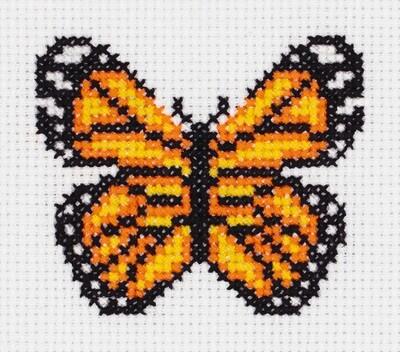 """""""Klart"""" набор для вышивания 8-430 """"Маленькая бабочка"""" 9,5x9 см"""