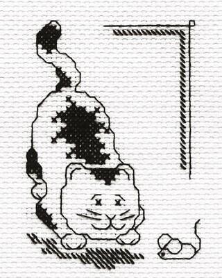 """Набор для вышивания """"PANNA"""" D-0509 """"Кошки - мышки"""" 9,5x12 см"""