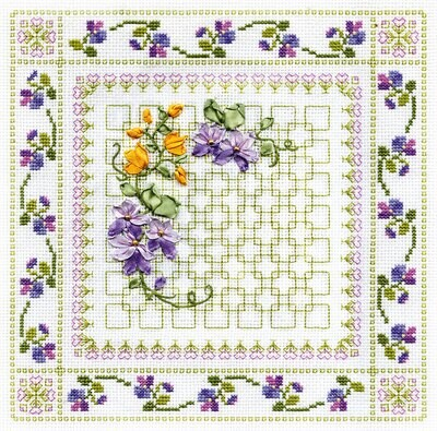 """Набор для вышивания """"PANNA"""" C-0575 """"Пестрые цветы"""" 26x26 см"""