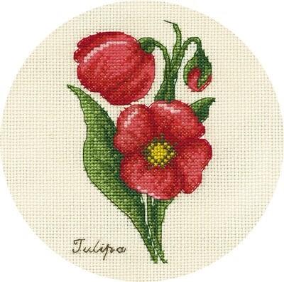 """Набор для вышивания """"PANNA"""" C-1809 """"Букетик тюльпанов"""" 13x17 см"""
