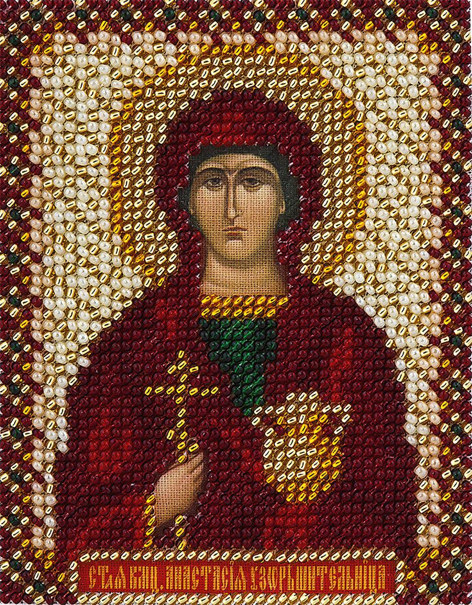 """Набор для вышивания """"PANNA"""" CM-1216 """"Икона святой великомученицы Анастасии"""" 8,5x10,5 см"""