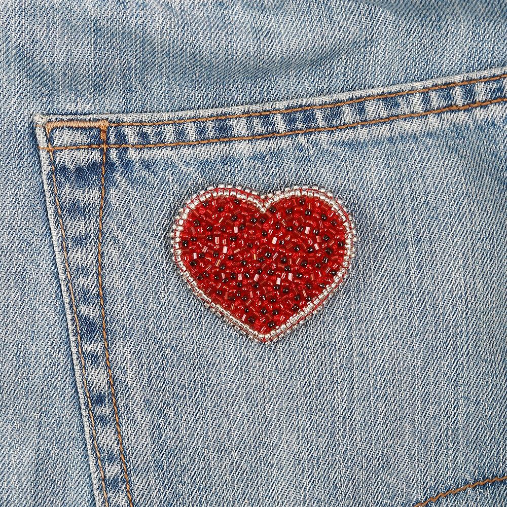 """""""Klart"""" набор для вышивания 10-011 """"Брошь. Сердце"""" 5x4.5 см"""