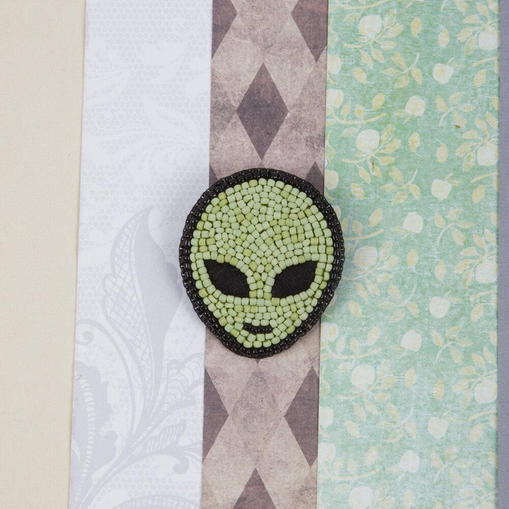 """""""Klart"""" набор для вышивания 10-009 """"Брошь. Инопланетянин"""" 4.5x5 см"""