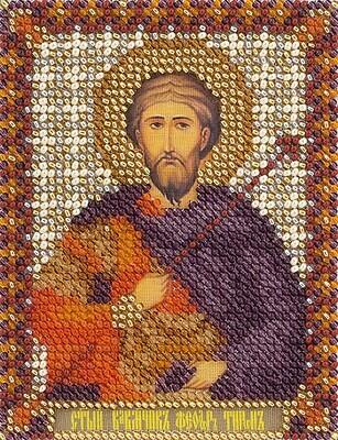 """Набор для вышивания """"PANNA"""" CM-1482 """"Икона Святого Великомученика Феодора Тирона"""" 8,5x10,5 см"""