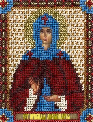 """Набор для вышивания """"PANNA"""" CM-1483 """"Икона Святой Преподобной Аполлинарии"""" 8,5x10,5 см"""