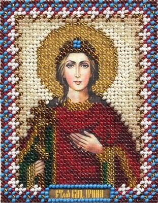 """Набор для вышивания """"PANNA"""" CM-1250 """"Икона Святой Великомученицы Ирины"""" 8,5x10,5 см"""