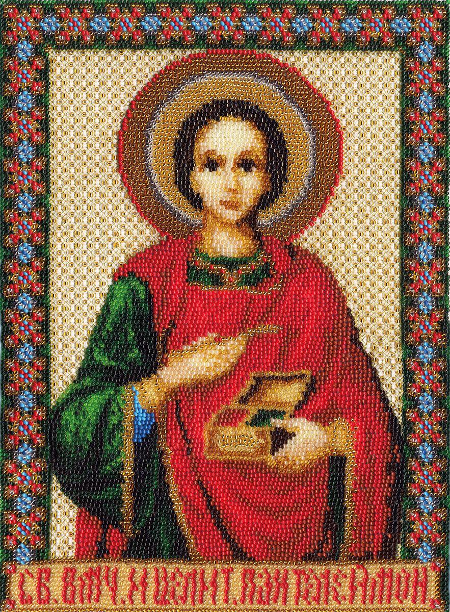 """Набор для вышивания """"PANNA"""" CM-1206 ( ЦМ-1206 ) """"Икона Св. Великомученика и целителя Пантелеймона """""""