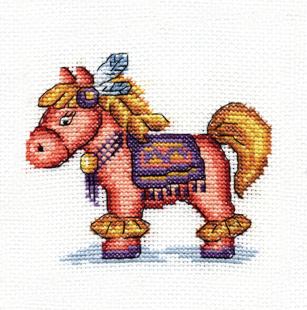 """Набор для вышивания """"PANNA"""" D-0173 ( Д-0173 ) """"Лошадка Легкое перышко"""""""