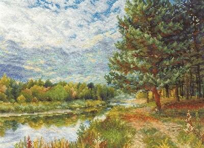 """Набор для вышивания """"PANNA"""" PS-0896 ( ПС-0896 ) """"Сосна на берегу реки"""""""